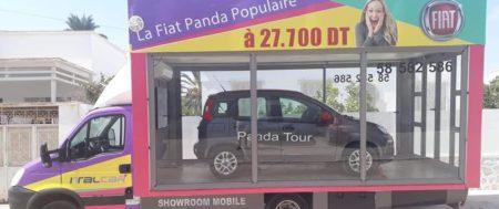 La Fiat PANDA fait le TOUR du pays dans un showroom mobile