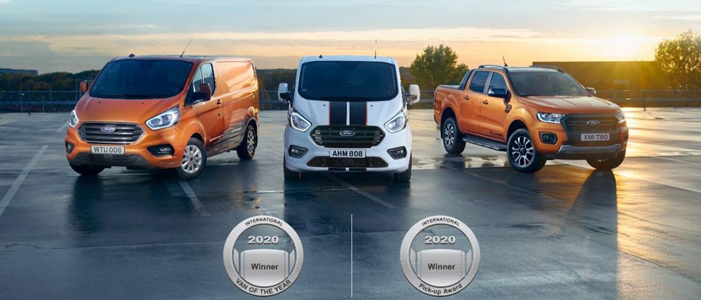 Ford réalise le doublé en Europe, utilitaire et pick-up de l'année 2020