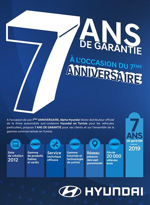 7 ans garantie Hyundai