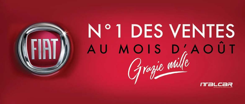 FIAT, N°1 DES VENTES EN TUNISIE EN AOÛT 2021