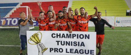 L'équipe de football d'Italcar vainqueur de la Tunisia Pro League